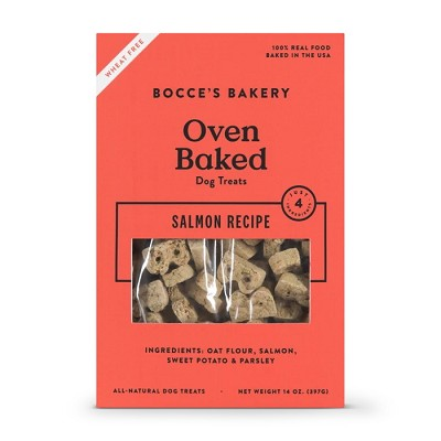 Bocce's Bakery Oven-Baked Salmon Recipe Dog Treats, 14-oz Box