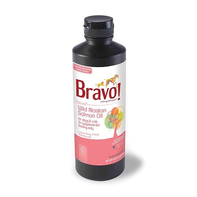 Bravo! Alaskan Salmon Oil for Dogs & Cats, 16.5-oz Bottle