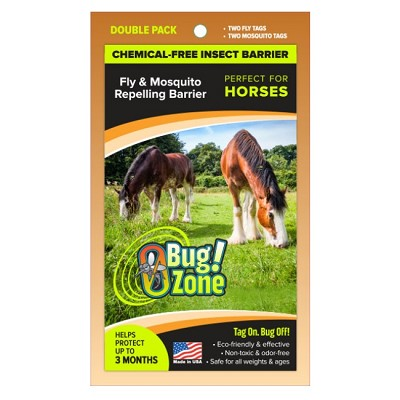 Bug Zone Fly & Mosquito Repellent for Horses, Double Pack