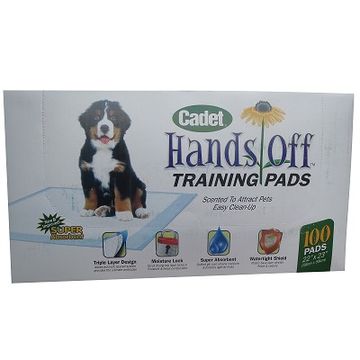 "Cadet Hands Off Dog Training Pads, 100 Count (22"" x 23"")"