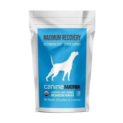 Canine Matrix MRM Maximum Recovery Organic Mushroom Supplement for Dogs, 100 Grams