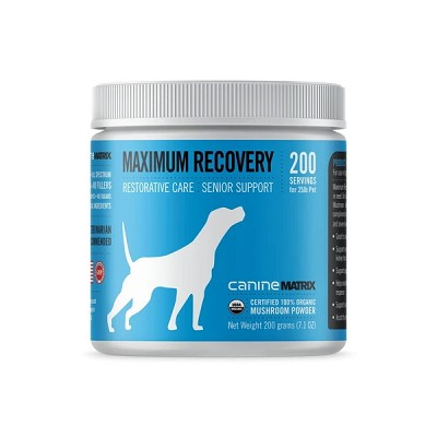 Canine Matrix Maximum Recovery MRM Organic Mushroom Supplement for Dogs, 200 Grams