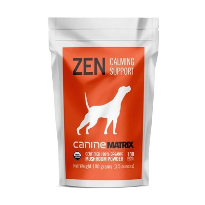 Canine Matrix Zen Mushroom Organic Calming Supplements for Dogs, 100 Grams