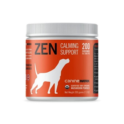 Canine Matrix Zen Mushroom Organic Calming Supplements for Dogs, 200 Grams