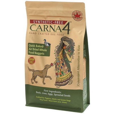 Carna4 Grain-Free Duck Formula Quick Baked - Air Dried Dry Dog Food, 22-lb bag