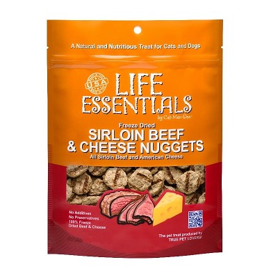 Cat Man Doo Life Essentials Freeze-Dried Sirloin Beef Nuggets Cat & Dog Treats, 3-oz Bag