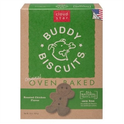 Cloud Star Oven Baked Buddy Biscuits Roasted Chicken Flavor Dog Treats