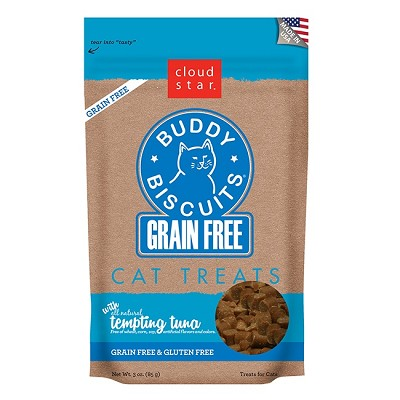 Cloud Star Grain-Free Buddy Biscuits Tempting Tuna Flavor Cat Treats