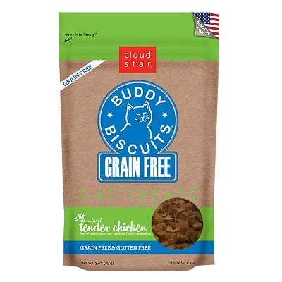 Cloud Star Grain-Free Buddy Biscuits Tender Chicken Flavor Cat Treats