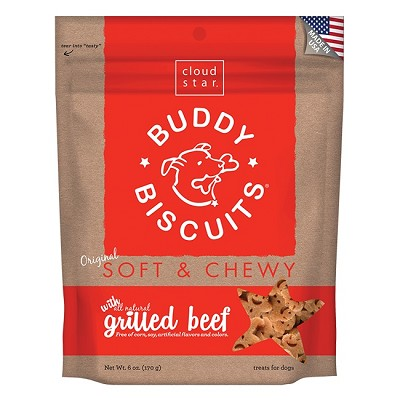 Cloud Star Soft & Chewy Buddy Biscuits Grilled Beef Flavor Dog Treats