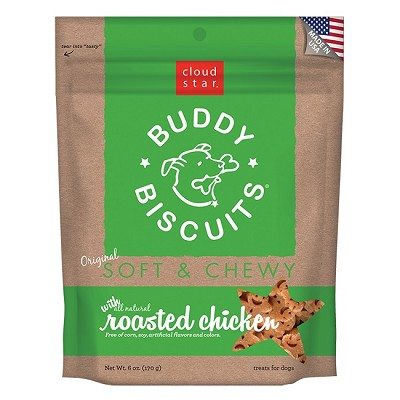Cloud Star Soft & Chewy Buddy Biscuits Roasted Chicken Dog Treats