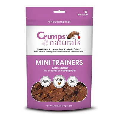 Crump's Naturals Mini Trainers Chic Snaps Dog Treats, 8.8-oz Bag