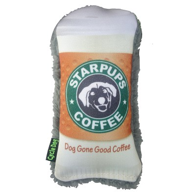 Cycle Dog Duraplush Coffee Cup Eco-Friendly USA Dog Toy