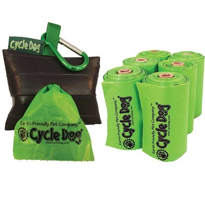 Cycle Dog Eco-Friendly Dog Poop Bags with Park Pouch Holder