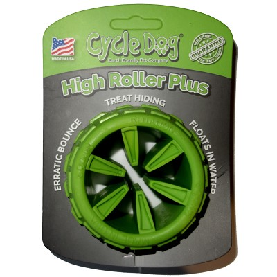 Cycle Dog High Roller Plus USA Dog Toy, Green, Large