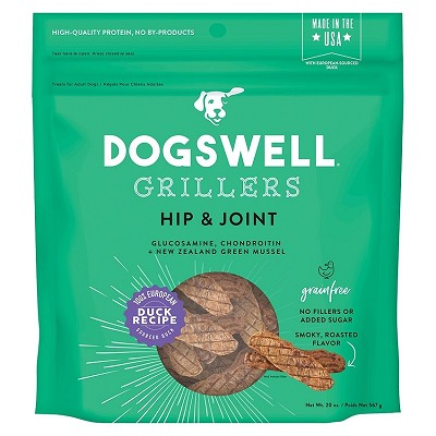 Dogswell Hip & Joint Grillers Grain-Free Duck Recipe for Dogs, 20-oz Bag