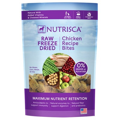 Dogswell Nutrisca Grain-Free Chicken Recipe Bites Freeze-Dried Dog Food, 5 Ounces