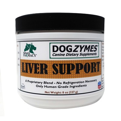 Nature's Farmacy Dogzymes Liver Support Dog Supplement, 8-oz