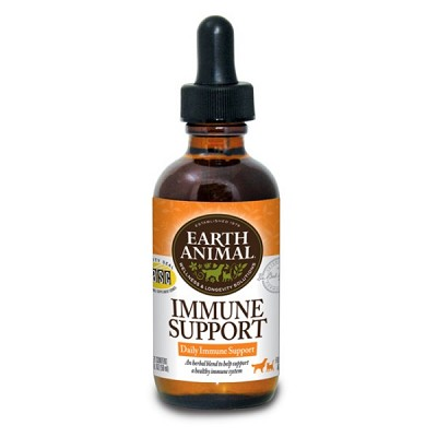 Earth Animal Immune Support Supplement for Dogs & Cats, 2-oz Bottle