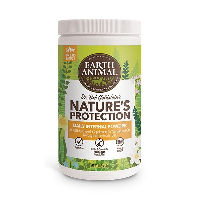 Earth Animal Nature's Protection Daily Internal Powder Flea and Tick Remedy for Dogs & Cats, 1-lb Container