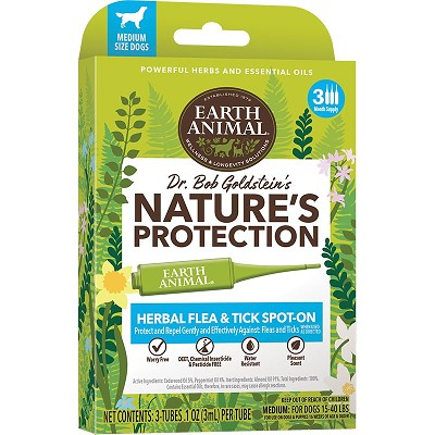 Earth Animal Nature's Protection Herbal Flea & Tick Spot-On Treatment for Medium Dogs
