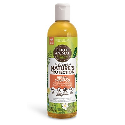 Earth Animal Nature's Protection Tick and Flea Herbal Shampoo for Dogs