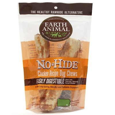 Earth Animal No Hide Chicken Chews Dog Treats, Large, 2 Pack