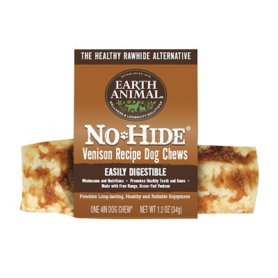 Earth Animal No-Hide Venison Recipe Dog Chews, 4""