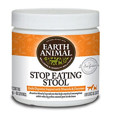 Earth Animal Stop Eating Stool Digestive Support Supplement for Dogs & Cats, 8-oz Container