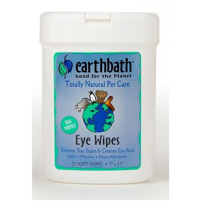 EarthBath Eye Wipes for Dogs & Cats