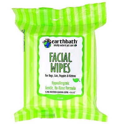 EarthBath Hypo-Allergenic Facial Wipes For Dogs and Cats