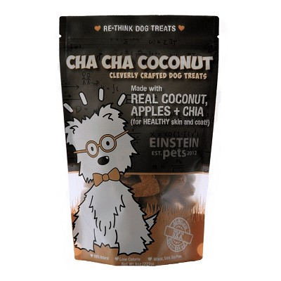 Einstein Pets Cha Cha Coconut with Apples & Chia Dog Treats, 8-oz Bag