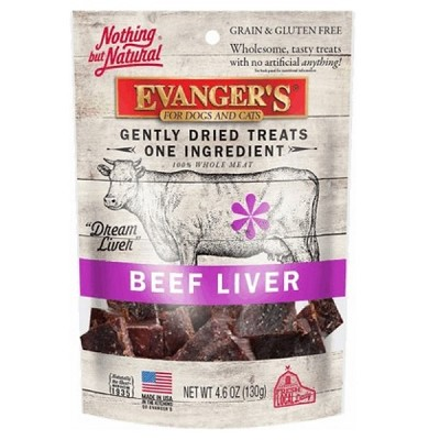 Evanger's Nothing but Natural Beef Liver Freeze-Dried Dog & Cat Treats