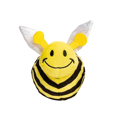 fabdog® Faball Bumble Bee Plush Squeaker Dog Toy, Small