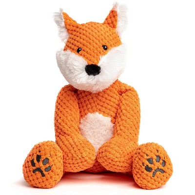 fabdog® Floppy Fox Plush Squeaker Dog Toy, Large