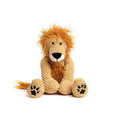 fabdog® Floppy Lion Plush Squeaker Dog Toy, Small