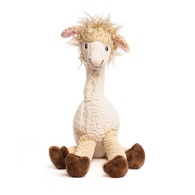 fabdog® Floppy Llama Plush Squeaker Dog Toy, Large