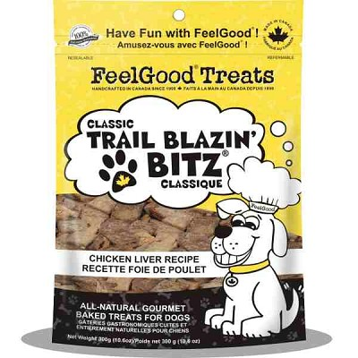 FeelGood Classic Trail Blazin Bitz Chicken Liver Recipe Dog Treats, 10.6-oz Bag