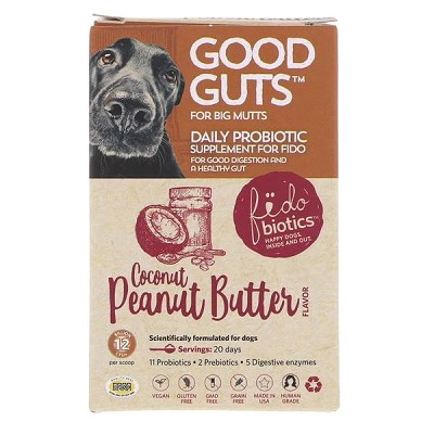 Fidobiotics Good Guts For Big Mutts Daily Probiotic Supplement for Dogs