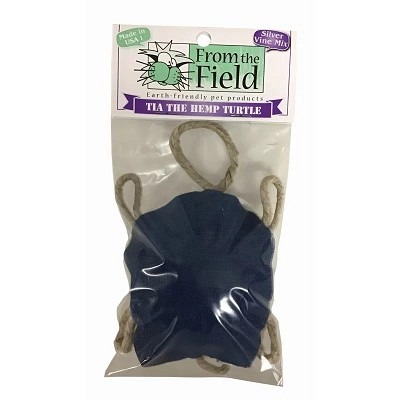 From The Field Tia The Hemp Turtle with Silver Vine & Catnip Mix Cat Toy