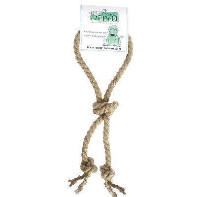 From The Field Tug A Hemp Loop Rope Dog Toy, Medium