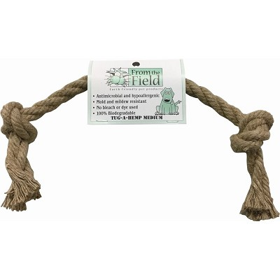 From The Field Tug A Hemp Rope Dog Toy, Medium
