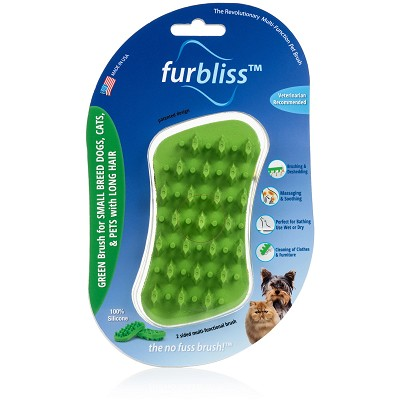 Furbliss Green Brush for Small Pets with Long Hair