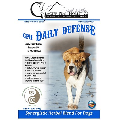 Glacier Peak Holistics Daily Defense Powder Detox Supplement for Dogs, 12-oz