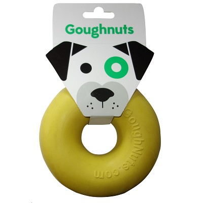 GoughNuts Original Yellow Ring USA Dog Toy