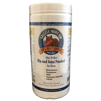 Grizzly Mini Pellet Hip & Joint Supplement for Dogs, 10-oz
