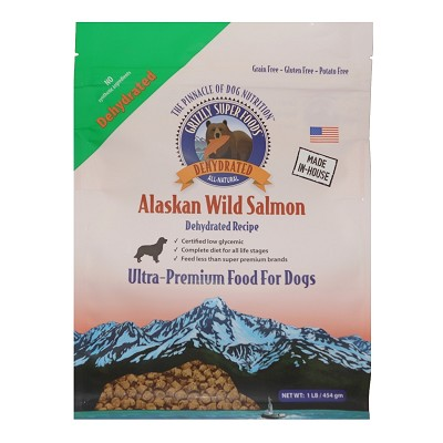 Grizzly Super Foods Wild Alaskan Salmon Ultra Premium Dehydrated Dog Food, 1-lb Bag