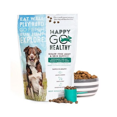 Happy Go Healthy Dog Joint & Skin Support Supplement, 3-lb Bag