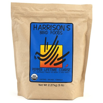 Harrison's Pepper Lifetime Coarse Organic Bird Food, 5-lb Bag