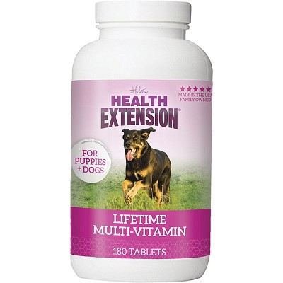 Health Extension Lifetime Multi-Vitamin Chewable Dog Tablets, 180-Count